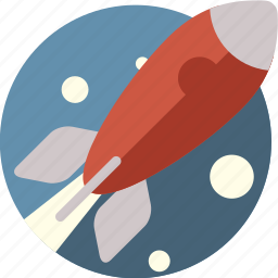 fly, rocket, shuttle, space, spacheshuttle, stars, transportation icon