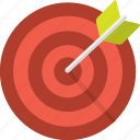 aim, arrow, center, goal, hit, succes, target icon