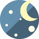 forecast, moon, night, space, stars icon