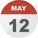 calendar, date, day, event, may, month, schedule, time icon