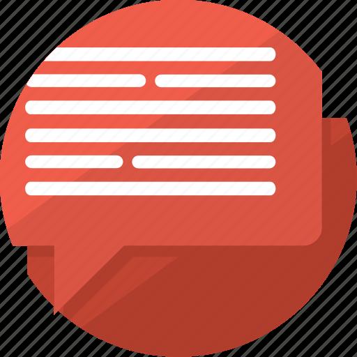 bubble, chat, comment, dialog, message, speech, talk icon