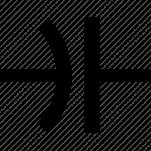 capacitor, circuit, component, fixed, non polarized, nonpolarized icon