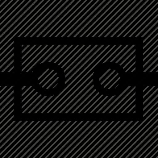 cavity, circuit, component, resonator icon