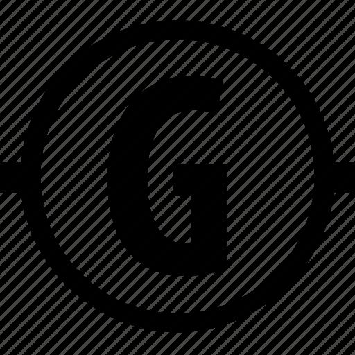 circuit, component, electricity, galvanometer icon