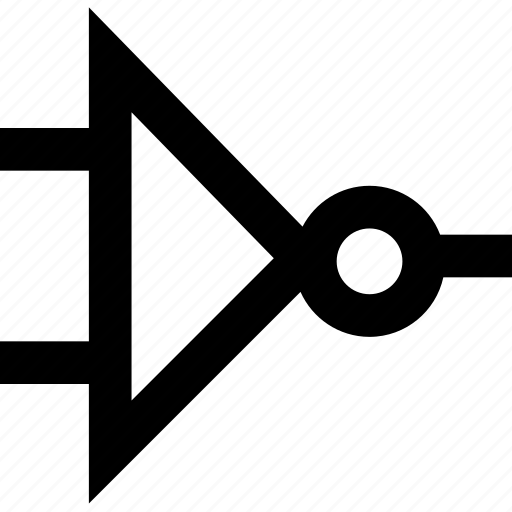 circuit, component, inverter icon