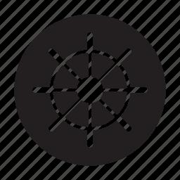 boat, ship wheel, steer, steering, steering wheel, wheel icon