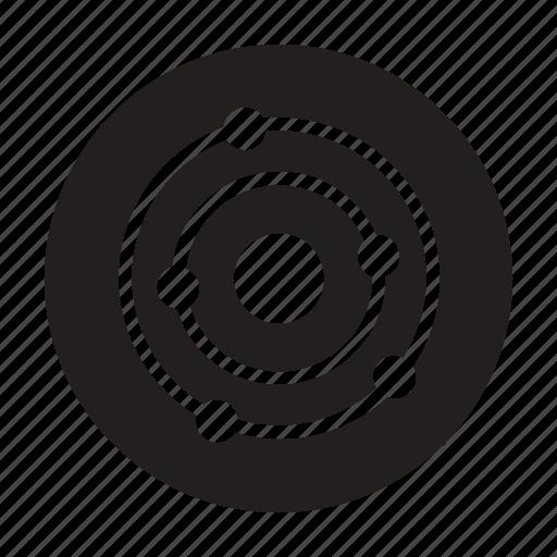 cavity, orbit, proximity, service icon