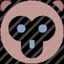 baboon face, cartoon animal, circus, macaque, monkey, monkey face