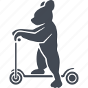 bear, circus, kick scooter, trained bears icon