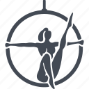 acrobat, air acrobat, circus, height, trick icon