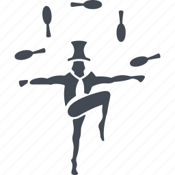 circus, human, juggler, speech icon