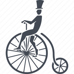 bike, circus, cycling, transport icon