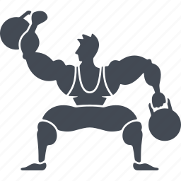 circus, dumbbells, number, speech, weightlifter icon
