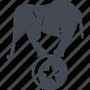 animal, ball, circus, elephant, trained elephants icon