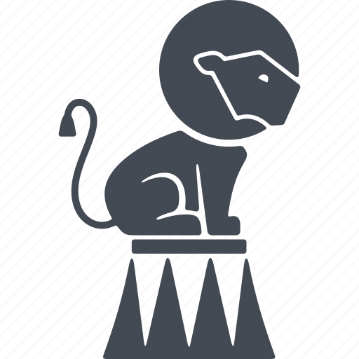 animal, circus, lion, show, trained lion icon