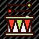 drum, entertainment, cram, drumfish, circus, thrum icon