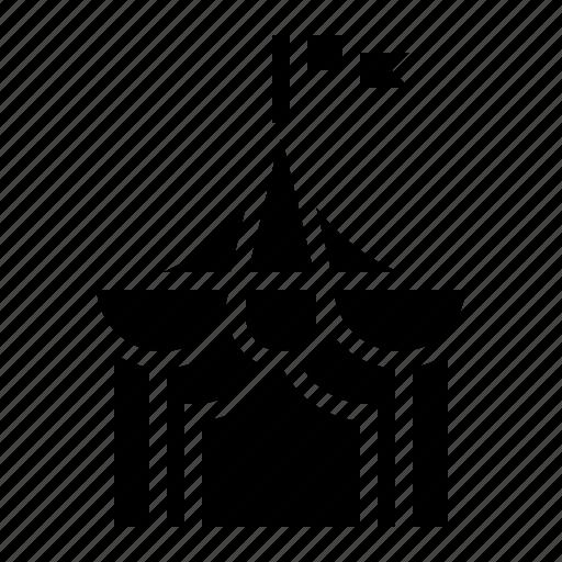 circus, flag, tent icon