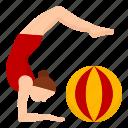 gymnast, performance, festival, carnival, ball, show, circus icon