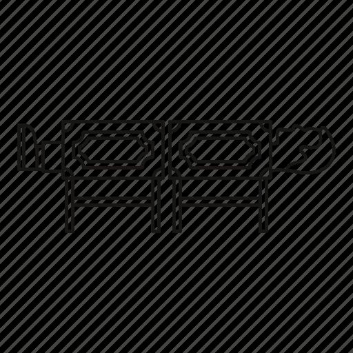 box, circus, illusion, line, man, outline, performance icon