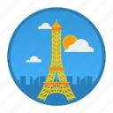 city, france, love, paris, place, population, world icon