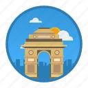 big city, city, delhi, india, place, world, world city icon