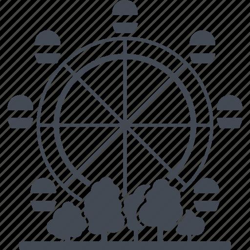 attraction, city, ferris wheel, park icon