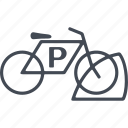 bicycle parking, bike, city, parking, transport icon