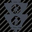 city, sign, signal, traffic light icon