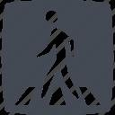 city, crosswalk, pedestrian, zebra icon