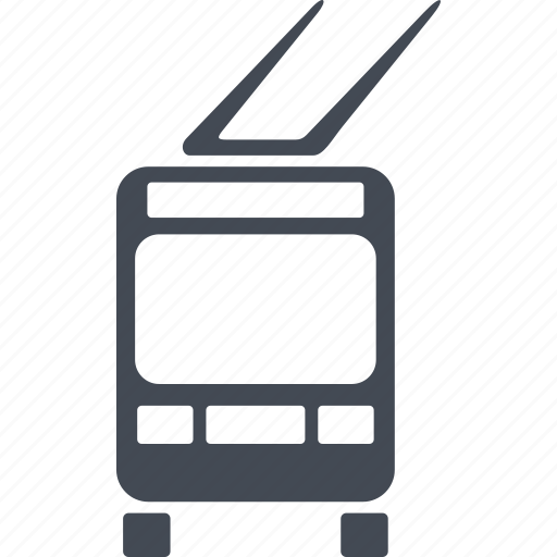 city, public transport, shipping, transport, trolleybus icon