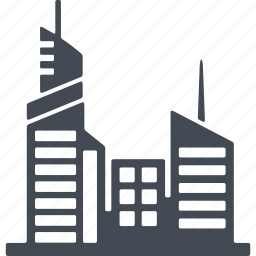 architecture, building, city, house, office icon