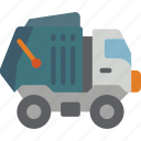 amenities, bin, council, lorry, rubbish, services, trash icon