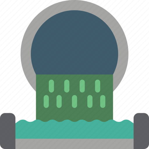 amenities, council, services, sewage, water works icon