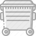 amenities, bin, city, council, rubbish, services, trash icon