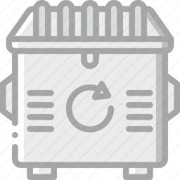 amenities, bin, city, council, light, recycle, services icon