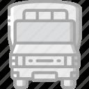 amenities, bus, council, public, school, services, transport icon