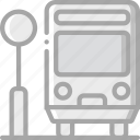 amenities, bus, city, council, public, services, stop icon