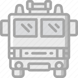 amenities, city, council, fire, fire dept, services, truck icon