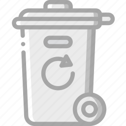 amenities, bin, city, council, recycle, rubbish, services icon