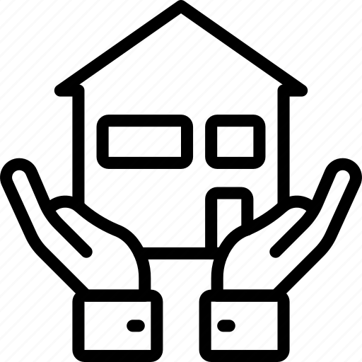amenities, council, hands, house, housing, ity, services icon