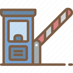 amenities, barrier, city, council, services icon