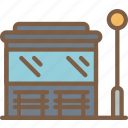 amenities, bus, city, council, public, services, shelter icon
