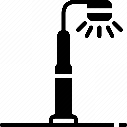 amenities, city, council, lamp, light, post, services icon