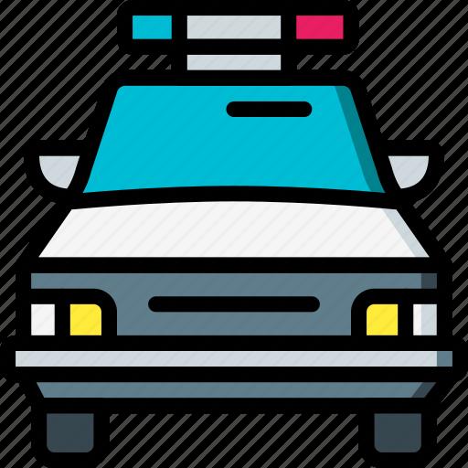amenities, car, city, cop, police icon