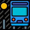 amenities, bus, city, council, public, services, stop icon