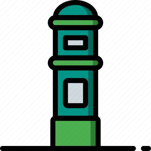 amenities, box, city, council, post, services icon