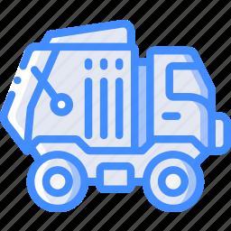 amenities, bin, city, council, lorry, rubbish, services icon