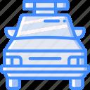 car, amenities, city, police, cop icon