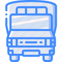 amenities, bus, council, public, school, services, transport icon