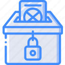 amenities, ballot, box, city, council, vote, voting icon